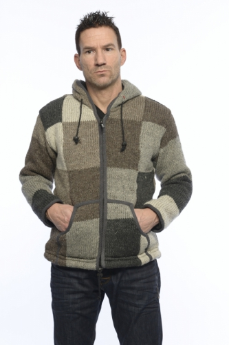 Gents natural patch hood